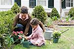Mother and daughter gardening Stock Photo - Premium Royalty-Free, Artist: Cultura RM, Code: 6114-06590621