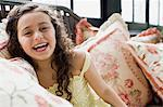 Girl laughing Stock Photo - Premium Royalty-Free, Artist: Blend Images, Code: 6114-06590623