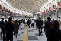 People in railway station Stock Photo - Premium Royalty-Freenull, Code: 6114-06591150