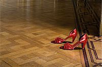 Pair of red high heeled shoes Stock Photo - Premium Royalty-Freenull, Code: 6114-06591298