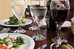 Restaurant table Stock Photo - Premium Royalty-Free, Artist: Westend61, Code: 6114-06591394