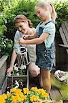 A mother and daughter and gardening Stock Photo - Premium Royalty-Free, Artist: CulturaRM, Code: 6114-06591468