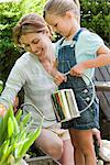 A mother and daughter and gardening Stock Photo - Premium Royalty-Freenull, Code: 6114-06591476