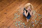Woman with jigsaw pieces Stock Photo - Premium Royalty-Freenull, Code: 6114-06591506
