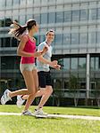 Man and woman running Stock Photo - Premium Royalty-Free, Artist: R. Ian Lloyd, Code: 6114-06591565