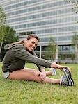 A woman stretching Stock Photo - Premium Royalty-Free, Artist: ableimages, Code: 6114-06591568