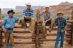 Cowboys and cowgirl Stock Photo - Premium Royalty-Free, Artist: Westend61, Code: 6114-06591624