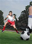 A goalkeeper in goal Stock Photo - Premium Royalty-Free, Artist: Blend Images, Code: 6114-06591806