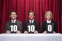 Three competition judges Stock Photo - Premium Royalty-Freenull, Code: 6114-06591883