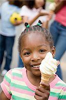 Girl with ice cream Stock Photo - Premium Royalty-Freenull, Code: 6114-06591947