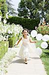 Flower girl with balloons Stock Photo - Premium Royalty-Free, Artist: ableimages, Code: 6114-06591969