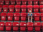 Boy alone in stadium Stock Photo - Premium Royalty-Free, Artist: CulturaRM, Code: 6114-06592048