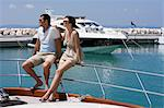 Couple on a yacht Stock Photo - Premium Royalty-Free, Artist: Allan Baxter, Code: 6114-06592100