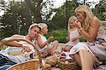 A family having a picnic Stock Photo - Premium Royalty-Free, Artist: Photocuisine, Code: 6114-06592114