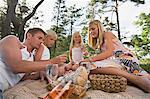 A family having a picnic Stock Photo - Premium Royalty-Free, Artist: Arcaid, Code: 6114-06592117