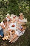 A family having a picnic Stock Photo - Premium Royalty-Free, Artist: Blend Images, Code: 6114-06592118