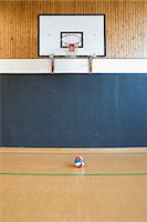 A basketball court and basketball Stock Photo - Premium Royalty-Freenull, Code: 6114-06592128