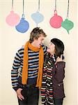 Couple at christmas Stock Photo - Premium Royalty-Free, Artist: Blend Images, Code: 6114-06592603