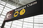 A baggage claim sign Stock Photo - Premium Royalty-Free, Artist: Aflo Sport, Code: 6114-06592757