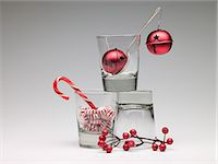 Christmas decorations in glasses Stock Photo - Premium Royalty-Freenull, Code: 6114-06592821