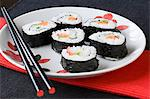 Sushi rolls Stock Photo - Premium Royalty-Free, Artist: Cultura RM, Code: 6114-06593056