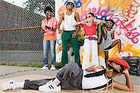 preteen dancing - Cool kids Stock Photo - Premium Royalty-Freenull, Code: 6114-06593277