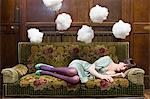 A teenage girl sleeping Stock Photo - Premium Royalty-Free, Artist: ableimages, Code: 6114-06594231