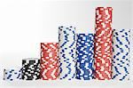 Piles of gambling chips Stock Photo - Premium Royalty-Free, Artist: Aflo Relax, Code: 6114-06595038