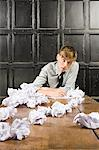 Teenage boy with crumpled paper Stock Photo - Premium Royalty-Free, Artist: Andrew Kolb, Code: 6114-06596549