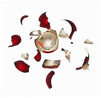 Shattered bauble Stock Photo - Premium Royalty-Freenull, Code: 6114-06596739
