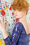 Young woman in sequin dress Stock Photo - Premium Royalty-Free, Artist: Cultura RM, Code: 6114-06597208