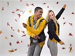 Young couple dancing in falling leaves Stock Photo - Premium Royalty-Free, Artist: Photocuisine, Code: 6114-06597491