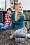 Young couple relaxing at home Stock Photo - Premium Royalty-Free, Artist: Kathleen Finlay, Code: 6114-06597622