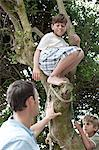 Father and boys climbing tree Stock Photo - Premium Royalty-Free, Artist: AWL Images, Code: 6114-06598185