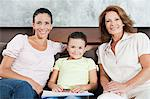 Girl with mother and grandmother Stock Photo - Premium Royalty-Free, Artist: Blend Images, Code: 6114-06598406