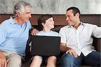 people in argentina - Three generations of males with laptop Stock Photo - Premium Royalty-Freenull, Code: 6114-06598424