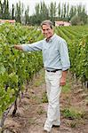 Mature man in a vineyard Stock Photo - Premium Royalty-Freenull, Code: 6114-06598514