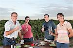 People wine tasting at vineyard Stock Photo - Premium Royalty-Freenull, Code: 6114-06598542