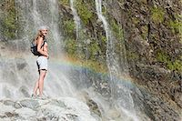 people in argentina - Woman by scenic waterfall Stock Photo - Premium Royalty-Freenull, Code: 6114-06598562