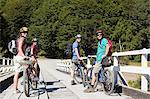 Four mountain bikers Stock Photo - Premium Royalty-Free, Artist: CulturaRM, Code: 6114-06598581