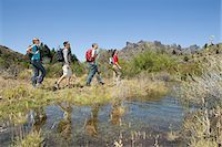 south american woman - Hikers walking by lake Stock Photo - Premium Royalty-Freenull, Code: 6114-06598590