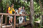 Hikers in a forest Stock Photo - Premium Royalty-Free, Artist: R. Ian Lloyd, Code: 6114-06598625