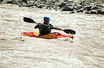 Man white water kayaking Stock Photo - Premium Royalty-Free, Artist: Aflo Relax, Code: 6114-06598709