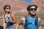 Mountain biker couple Stock Photo - Premium Royalty-Free, Artist: CulturaRM, Code: 6114-06598730