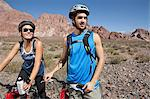 Mountain biker couple Stock Photo - Premium Royalty-Free, Artist: Ron Fehling, Code: 6114-06598742