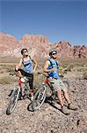 Mountain biker couple Stock Photo - Premium Royalty-Free, Artist: CulturaRM, Code: 6114-06598747