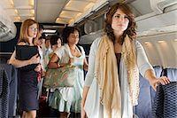 Passengers boarding a plane Stock Photo - Premium Royalty-Freenull, Code: 6114-06599059