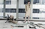 Businesswoman in abandoned office Stock Photo - Premium Royalty-Free, Artist: Jose Luis Stephens, Code: 6114-06599417