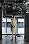 Businesswoman in abandoned office Stock Photo - Premium Royalty-Free, Artist: Blend Images, Code: 6114-06599431