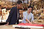 Colleagues in clothing factory Stock Photo - Premium Royalty-Free, Artist: CulturaRM, Code: 6114-06599476